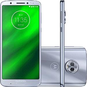 "Smartphone Motorola Moto G6 Plus 64GB Dual Chip Android Oreo - 8.0 Tela 5.9"" Octa-Core 2.2 GHz 4G Câmera 12 + 5MP (Dual Traseira) Azul Topázio"