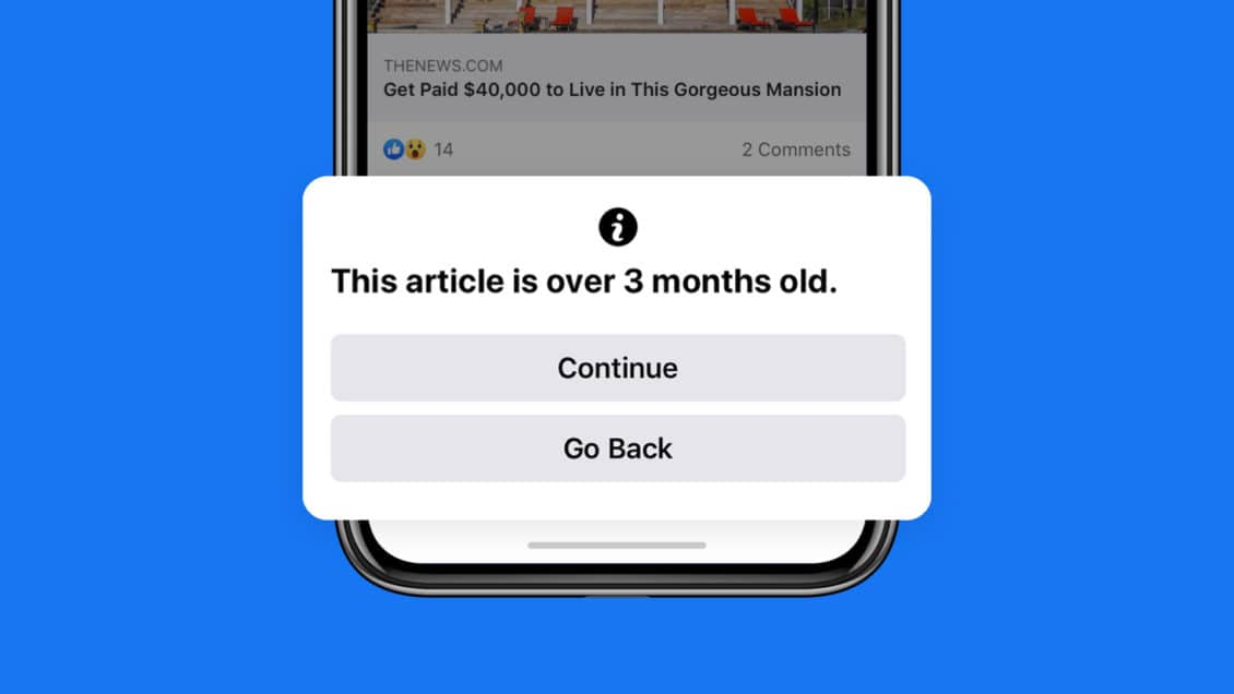 Facebook will notify you before sharing Corona posts