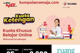 Cara Beli Paket Kouta Khusus Belajar Online 25GB cuma RP 2300