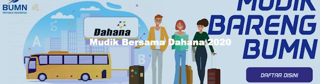 Mudik Gratis 2020 dari PT Dahana