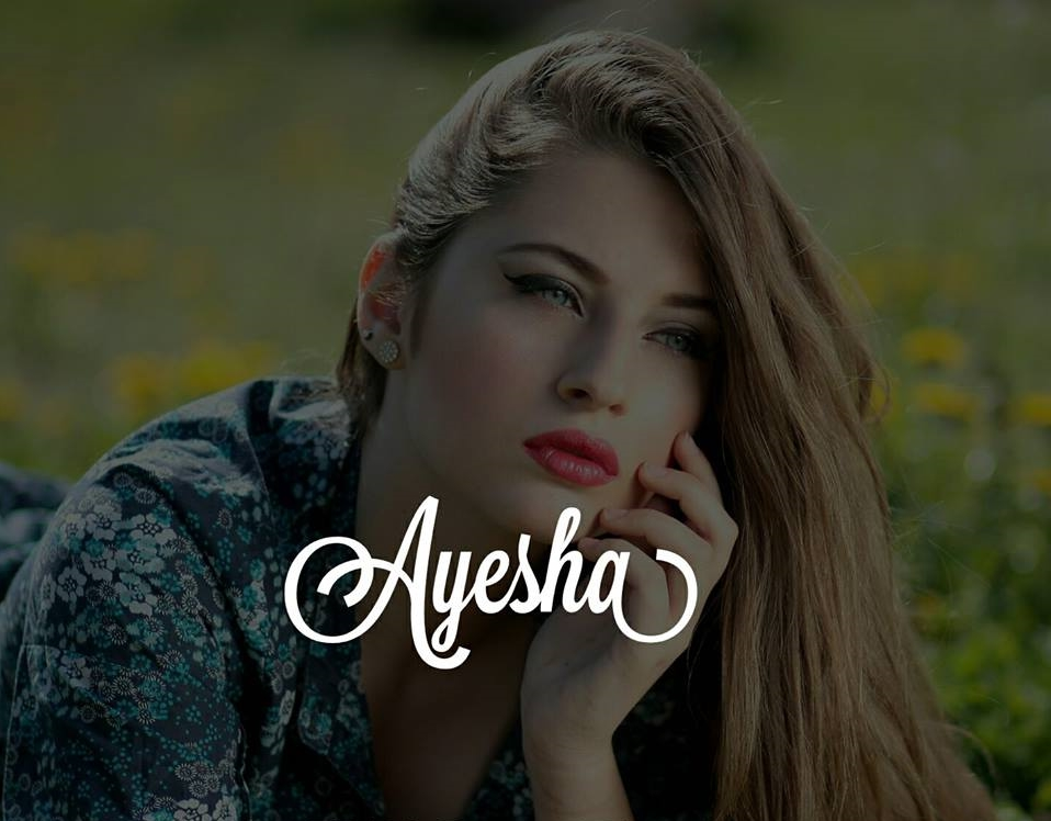50+ Stylish Ayesha Name dp Pic Collection for Fb and ...