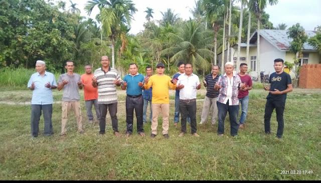 PKS dan Yusriadi bantu Bangun Balai Pengajian di Komplek Perumahan Tsunami Jeumpa Permai