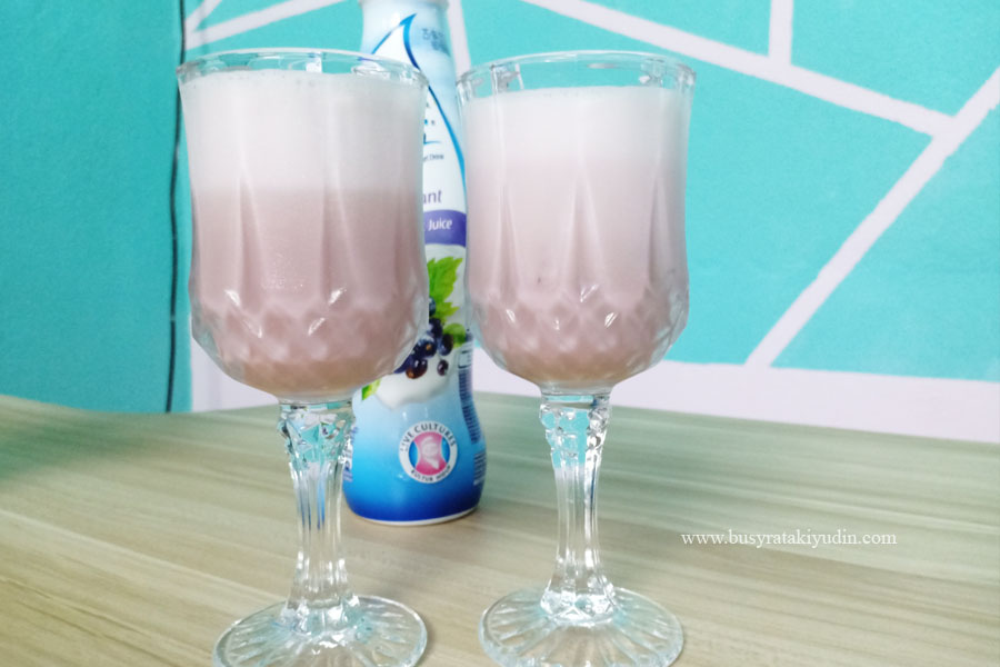Blueberry Smoothie, resepi sihat, madu, cornflakes, pisang,