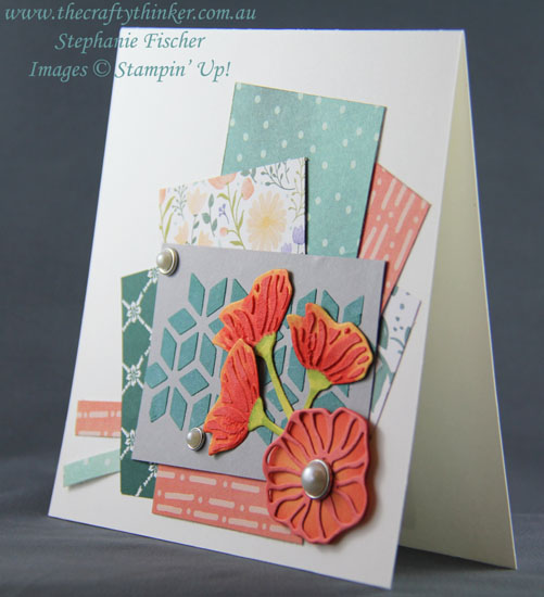 #crazycraftersbloghop, card layout, Oh So Eclectic, Embossing Paste, #thecraftythinker, Stampin' Up Australia Demonstrator, Stephanie Fischer, Sydney NSW