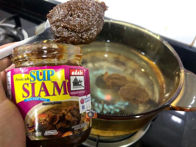 Masak Sup Guna Pes Sup Siam Adabi Memang Mudah Dan Sedap
