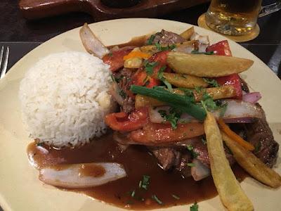 Lomo saltado, Gastronomía peruana lomo saltado