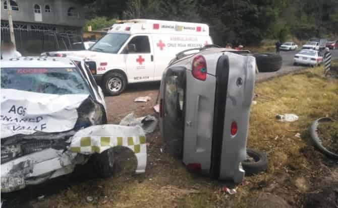 Autos, colisiones, volcadura