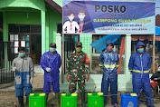 Babinsa Bersama Pemerintah Desa Terus Merapatkan Barisan Tekan Angka Penyebaran Covid-19