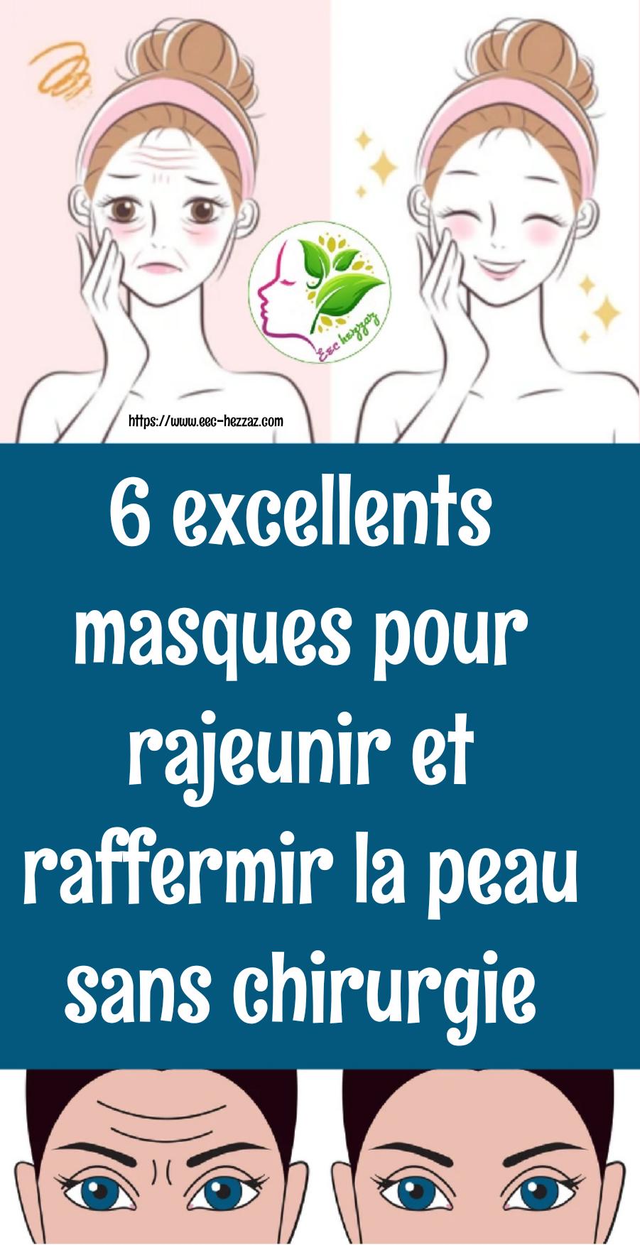 6 excellents masques pour rajeunir et raffermir la peau sans chirurgie