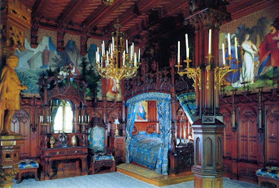 Schloß Neuschwanstein, King Ludwig's Bedroom