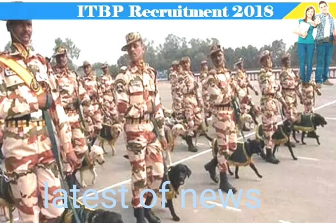 itbp recruitment Recruitment on the post of head constable in ITBP for the 10th pass now