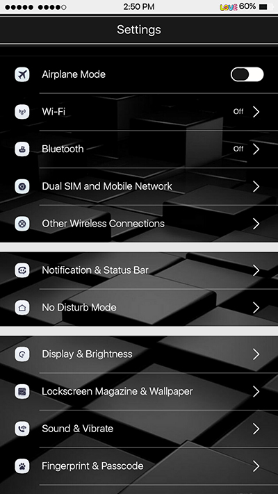 Oppo F3|F3 Plus IOS Theme Black and White Theme