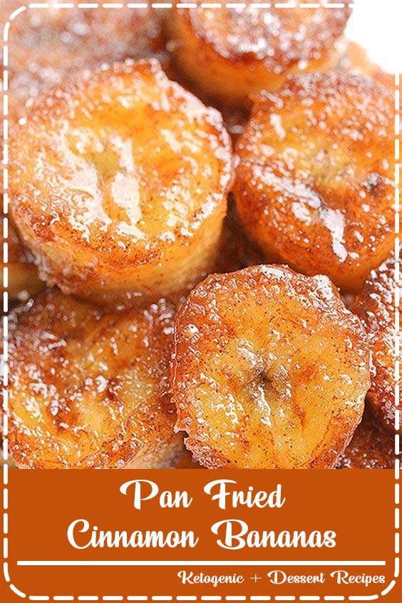 These pan fried cinnamon bananas are soooooo good Pan Fried Cinnamon Bananas