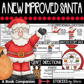 A New Improved Santaby Patricia Rae Wolff is a story about staying true to yourself and makes a great read aloud near Christmas. This book companion contains comprehension questions, vocabulary words, graphic organizers, and two crafts that you can use with this story.