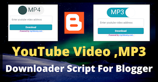 YouTube video downloader script for blogger (Premium+Direct Download)