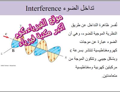 مفهوم التداخل الضوء PDF تحميل برابط مباشر