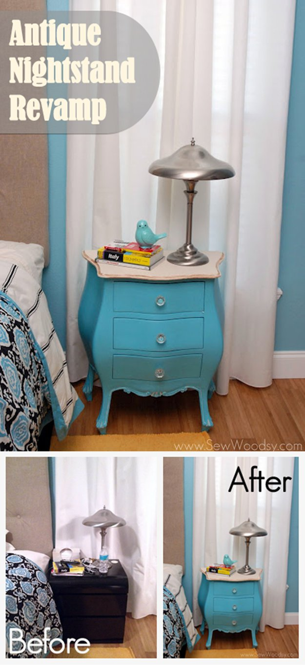 Cheap Antique Nightstand Revamp
