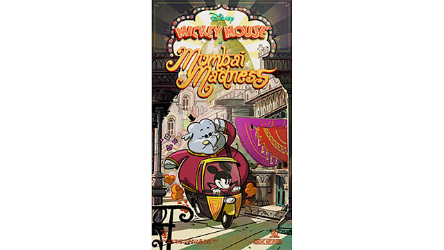 Mickey Mouse Mumbai Madness Runaway Railway Queue Line Poster