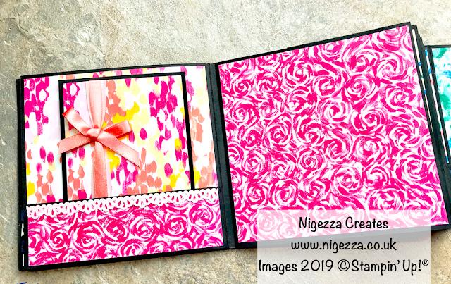Nigezza Creates. Stampin' Up!® Garden Impressions Mini Album Part 3: Photo Mats & Pocket Inserts