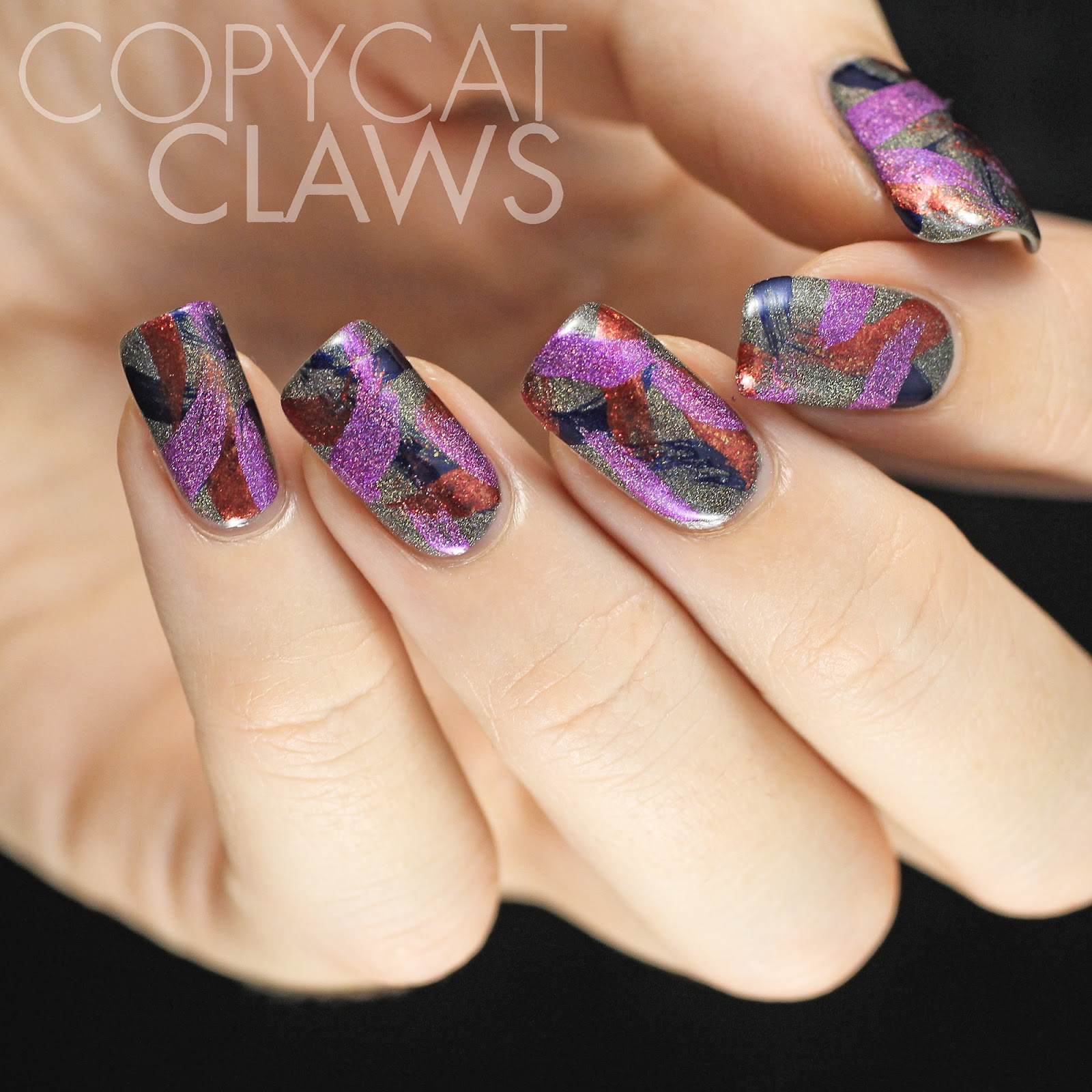 Copycat claws a england brush stroke nail art i like how these turned out a lot more than my last attempt at brush stroke nail art its interesting to compare how much longer my nails grow without prinsesfo Images