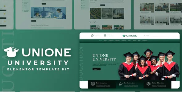 Best University Elementor Template Kit