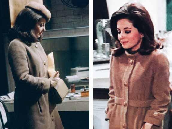 Anne (Barbara Parkins) casaco marrom