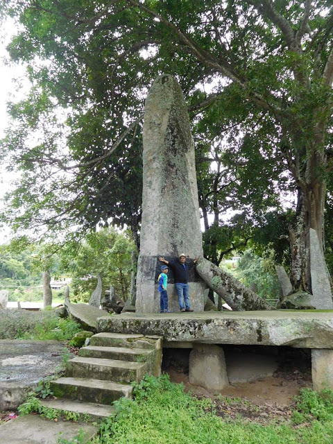 "The biggest monolith at Nartiang, Meghalaya. It is known as ""Moo Long Syiem"" and it is 26 feet 5 inches high, 6 feet 9 inches wide, and 18 inches thick."