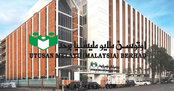 Jawatan Kosong di Utusan Melayu Malaysia Berhad - 30 April 2018