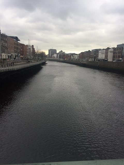 Dublin city break / Ha Penny Bridge / Liffey Bridge River Liffey