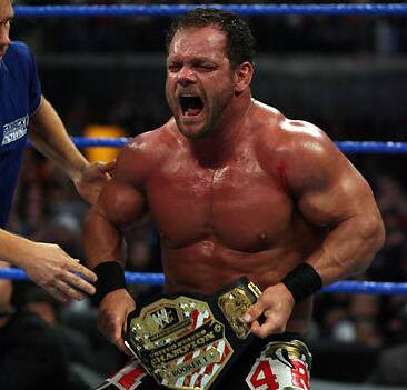 Chris Benoit after winning the United States Championship.