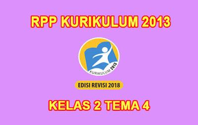 download rpp kelas 2 tema 4 k13 tahun 2019 2020