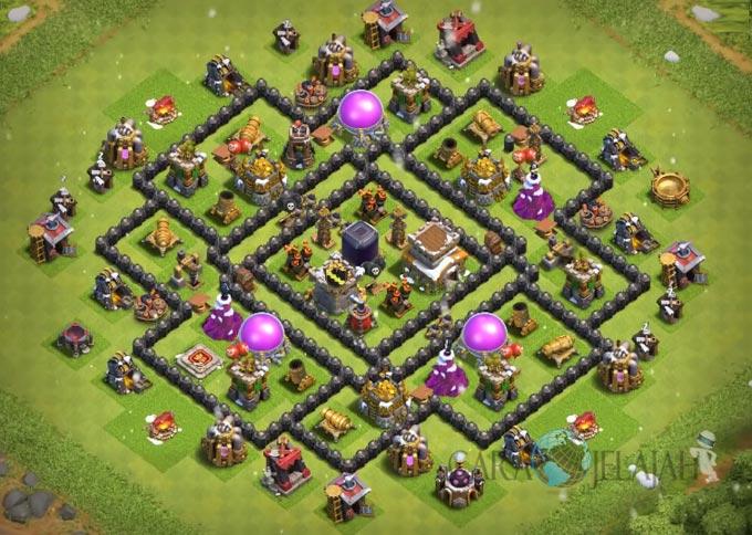 Base Hybrid TH 8 Clash Of Clans Terbaru Tipe 11