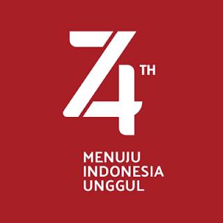 Logo Resmi HUT RI 74 2019 Corel, PNG, Vector, Transparan