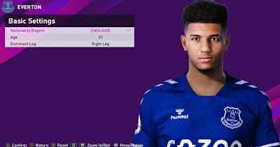 PES 2020 Faces Mason Holgate by Rachmad ABs
