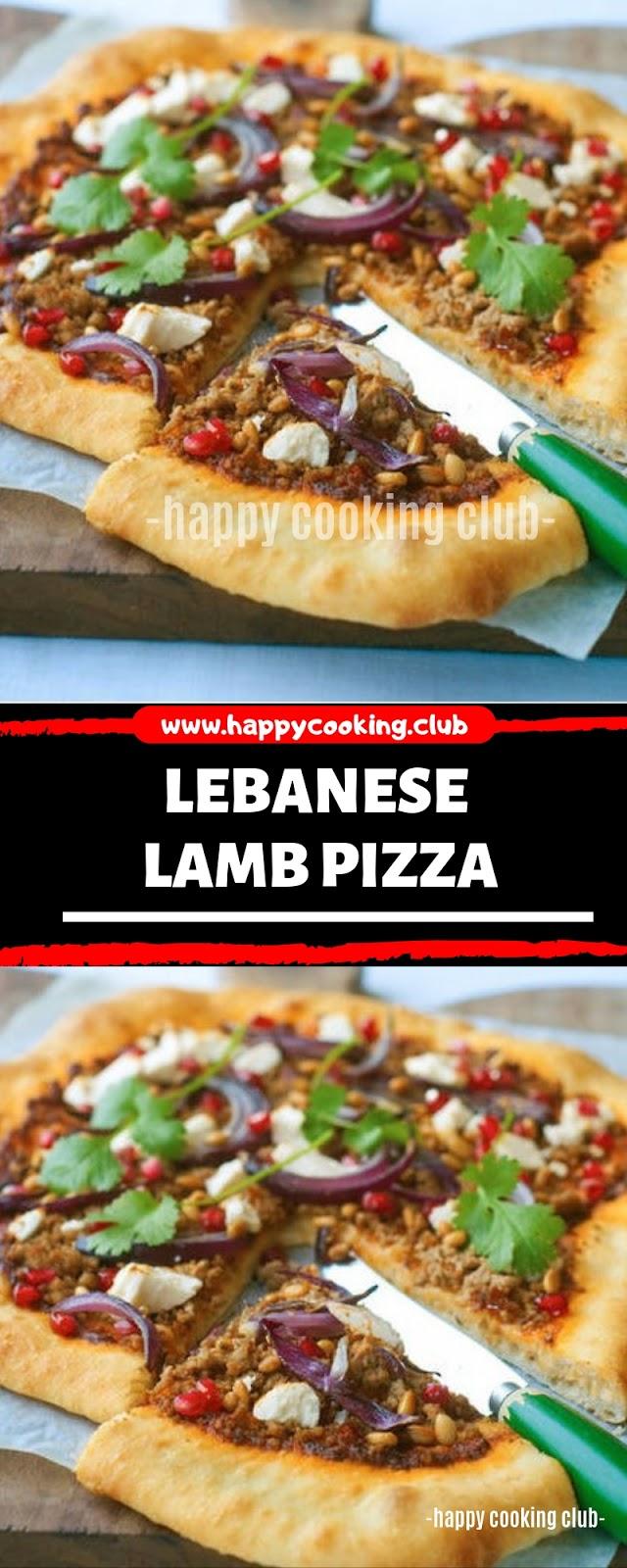 LEBANESE LAMB PIZZA
