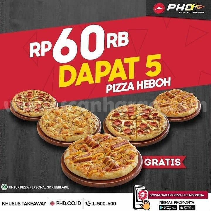 PROMO PHD Beli 5 Personal Pizza cuma 60 Ribuan!