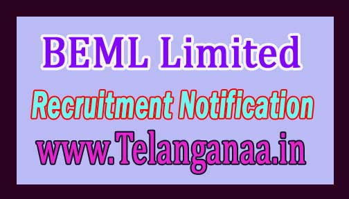 BEML Limited Recruitment Notification 2016