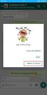 Cara Menyimpan Stiker Whatsapp Orang Lain Dengan Mudah