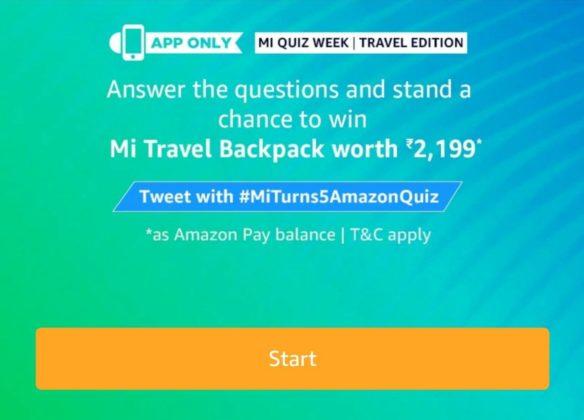 Amazon Mi Anniversary Quiz Week – Win Mi LED TV 49 Inch