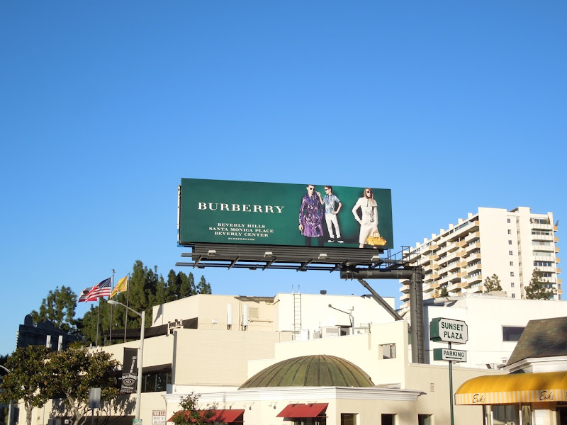 Burberry SS 2013 billboard Sunset Strip