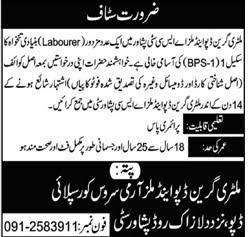 Military Green Depot & Mills ASC City Peshawar Jobs