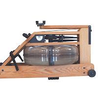Water flywheel / tank on WaterRower Performance Ergometer in Oak Wood with SmartRow, image, replicates resistance of real rowing on water