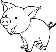 Adorable Pig Coloring Pages For Kids