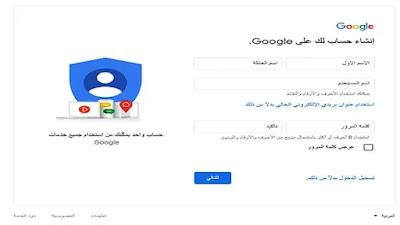 انشاء حساب gmail خطوة بخطوة