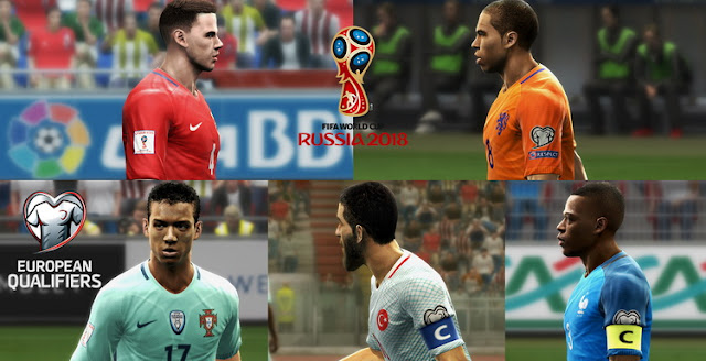 PES 2013 European Qualifiers Russia 2018 Nike Kitpack by Vulcanzero