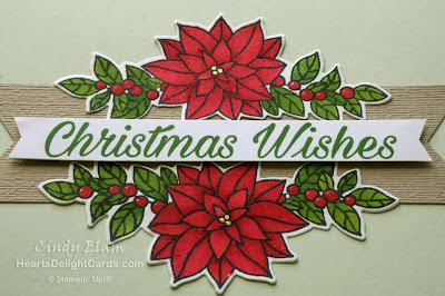 Heart's Delight Cards, Peaceful Poinsettia, Christmas Card, Detailed Poinsettia, Stampin' Up!