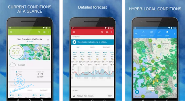 Download the best weather app Widget for android 2017