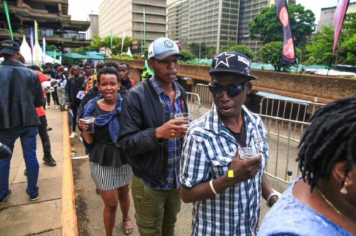 Contestants arrive at the East Africa Got Talent pre-auditions at KICC, Nairobi.
