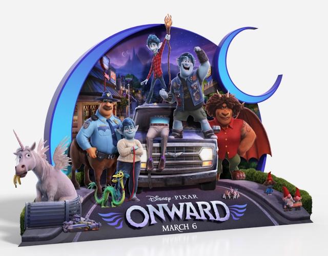 Pixar Onward theater standee