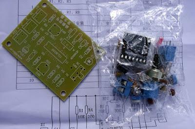 Kit de gerador de funções com o CI ICL8038